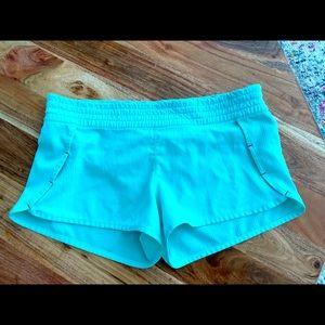 Mint green lulu shorts